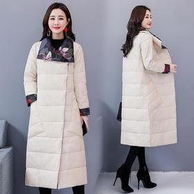 翻领简约时尚修身长款长袖纯色单排扣大衣 CQ-MN803