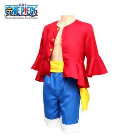 腾讯动漫官方 航海王ONE PECIE路飞cosplay套装海贼王 上衣裤子腰带