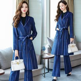 潮流简约个性显瘦修身百搭优雅休闲长袖套装 CQ-ZMFS89115