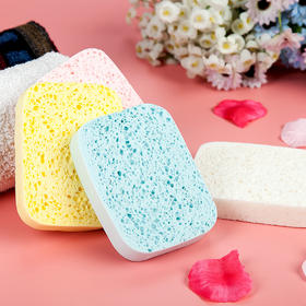 新款天然木浆棉盒装洗脸扑海绵加厚美容不伤皮肤洁面扑-864530