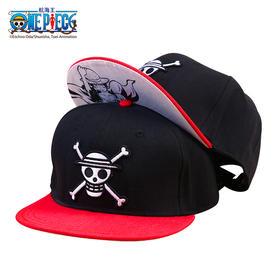 腾讯动漫官方 航海王ONE PECIE标志款帽子海贼王 纯棉平檐调节棒球帽嘻哈帽