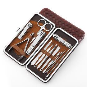 指甲刀套装趾甲剪指甲钳不锈钢死皮钳修甲美容工具13件-864479