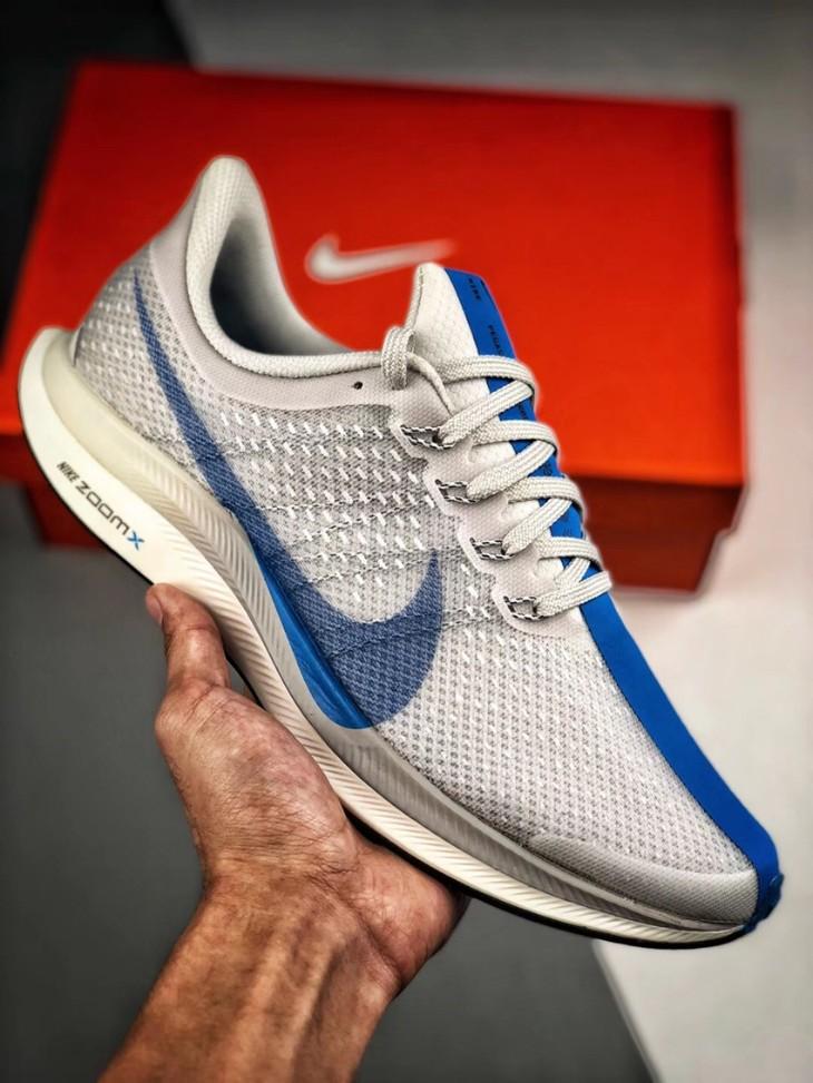 8a67ef85fa01 Nike Zoom Pegasus Turbo X React 唯一原装公司级原盒原标正确版本正式出货灰蓝配色AJ4114- XP  内置气垫正确双层组合底,双层网纱同步原版唯一正确版本!
