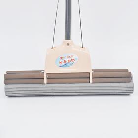 新款38cm海绵胶棉拖把双排滚轮挤水海绵拖把不锈钢伸缩杆懒人-864572