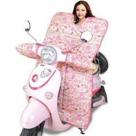 电动车挡风被冬季保暖连体防水加厚加绒电瓶踏板车挡风罩-864683