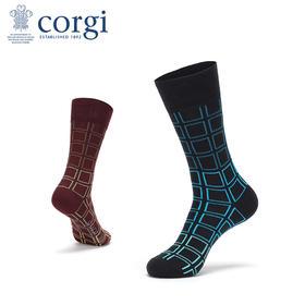 CORGI  男士 棉袜 炫目格纹