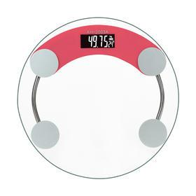 圆款透明体重秤成人精准电子秤健康称玻璃称-864728