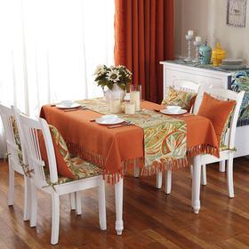 简约纯色桌布加厚防烫布艺餐桌布巾茶几圆桌方餐桌盖布巾-864674