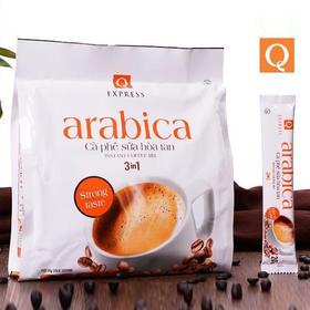 【越南】越南Q牌阿拉比卡3合1原味白咖啡480克 进口速溶咖啡arabica