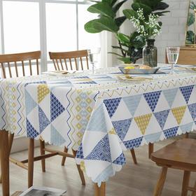 免水洗防水桌布布艺装饰桌布垫茶几布盖巾小清新欧式防烫台布-864664