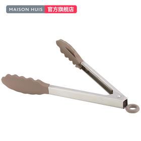 硅胶食品夹子面包夹子牛排夹子烧烤夹不锈钢食物夹子烹饪夹工具
