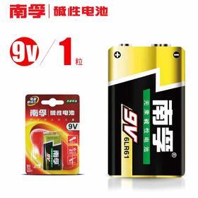 南孚9V电池 九伏碱性万用表玩具话筒叠层方块方形干电池1粒6LR61-864654
