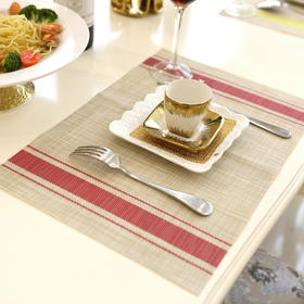 欧式无味环保清新PVC防水隔热餐垫桌垫杯垫条纹餐桌垫-864667
