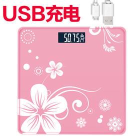usb可充电款家用电子秤迷你体重称成人健康称重仪器人体称-864729