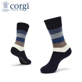 CORGI 时尚条纹 羊毛男袜