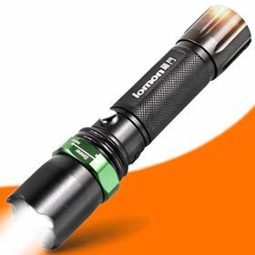 LED铝合金变焦强光手电 户外远射充电强光手电筒-864591