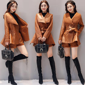 长袖时尚气质优雅街头韩版百搭潮流中长款套装 CS-HMQY8820-1