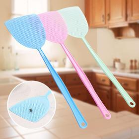 蚊子拍 新款塑料苍蝇拍 拍不碎耐用网面加长手柄灭蚊拍-864760