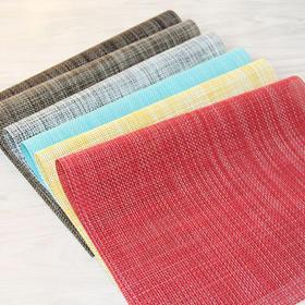 创意时尚特斯林餐垫PVC 餐桌垫 环保纯色隔热餐桌垫-864670