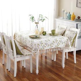 田园叶子桌布加厚防烫布艺餐桌布巾茶几圆桌方餐桌盖布巾-864666