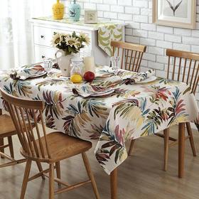 美式乡村大长叶桌布桌旗长方形装饰书桌茶几餐桌桌布-864663