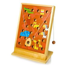 锻炼手眼平衡  儿童益智玩具  德国small foot 乐格木质玩具 爬越非洲