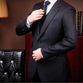 意大利名厂奢华面料高端全麻衬西装