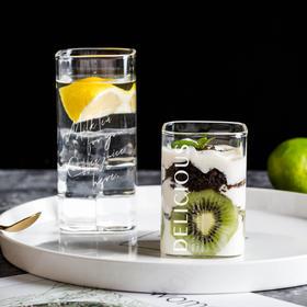 摩登主妇 北欧ins风透明玻璃方杯家用耐热牛奶杯子创意饮料杯茶杯