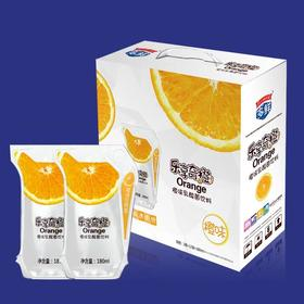 乐享奇橙乳酸菌饮料品180g*12袋
