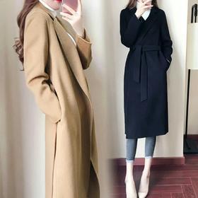 流行毛呢外套女中长款森系大衣2018秋冬季新款韩版赫本风学生妮子