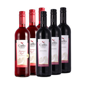 【莫堡品鉴家专享】美国嘉露家族庄园夏日红葡萄酒750ml*3+嘉露家族庄园仙粉黛红葡萄酒*3