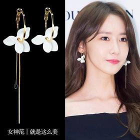 超仙不对称花朵耳环 丨 925银,女神范就是这么美