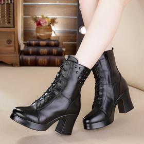 MLD8512欧美粗高跟铆钉时尚马丁靴TZF
