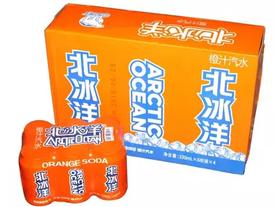 北冰洋听装  橙汁味汽水 330ml24罐