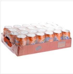 芬达碳酸饮料330ml×24瓶橙味汽水 听装