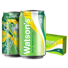Watson's屈臣氏香草苏打汽水330ml24罐箱苏打气泡水整箱