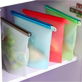 【硅胶真空保鲜密封袋,家庭必备】食品级耐高温,蔬菜、鱼肉、果汁,轻松保鲜,可循环使用!