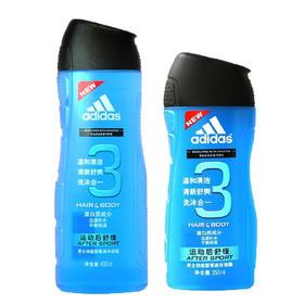 正品阿迪达斯男士运动后舒缓沐浴乳200ml