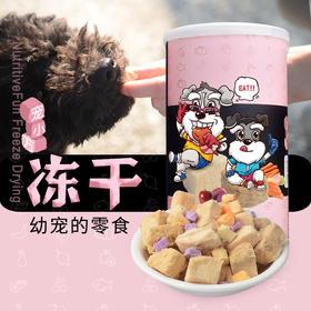 喜归 | 宠小方冻干果蔬零食 为幼宠打造  鸡肉三文鱼 犬猫通用
