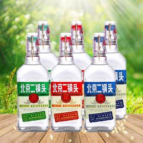 永丰牌42度北京二锅头出口型小方瓶500ml(红蓝绿标)