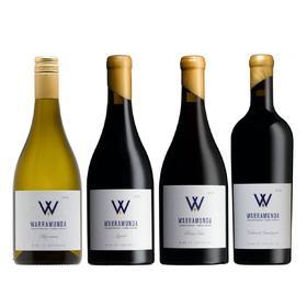 【买红酒,升黑卡,最划算】【尝鲜4瓶套装】Warramunda华乐达W酒庄玛珊干白、西拉子、黑皮诺、赤霞珠 2015年各一支