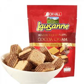 泰国进口珍珍巧克力奶油味夹心粒粒装威化饼干80g 网红零食小吃