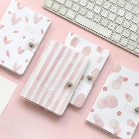 少女梦胶套本Z学生用粉色小清新胶套本记事本子手帐本