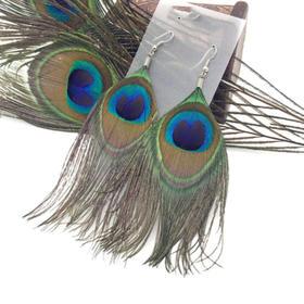 「儋州」蓝孔雀羽毛饰品-儋州芃虹农业科技有限公司的扶贫工艺品