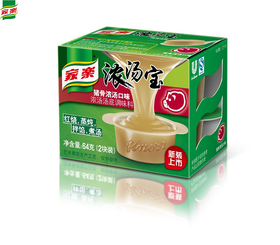 家乐浓汤宝 猪骨浓汤口味2X32g盒 煲汤火锅底料浓汤汤底汤料64g