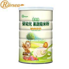 禾泱泱Rivsea台湾进口宝宝营养粥婴儿果蔬糙米粉益生元米糊250g