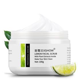 【暖春价】圣雪兰 柠檬脸部去角质磨砂膏100g 去死皮 身体面部磨砂膏促进吸收~