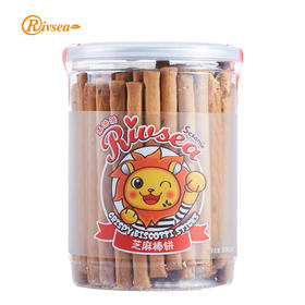禾泱泱进口宝宝磨牙饼干芝麻棒饼儿童零食健康营养手指饼干206g