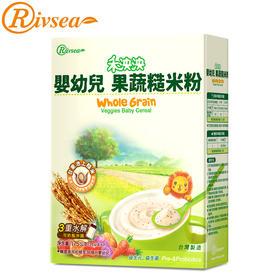 禾泱泱Rivsea台湾进口婴儿米粉宝宝辅食粥果蔬益生元糙米粉175g