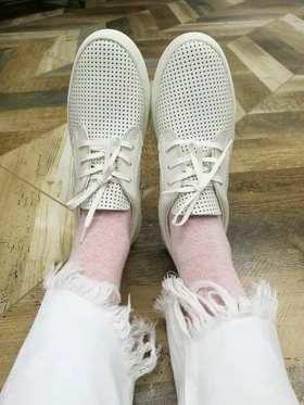 BUDDY   米白色镂空板鞋